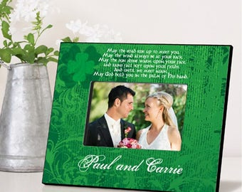 Personalized Irish Blessing Picture Frame - Irish Wedding Frames - Wedding Photo Frames - Irish Wedding Picture Frames - Irish Photo Frames
