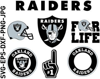 raiders logo etsy