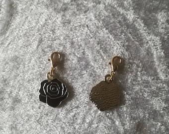Black rose charm