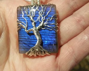 Stunning Neon blue Tree of life