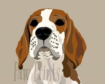 Beagle Dog Art Print