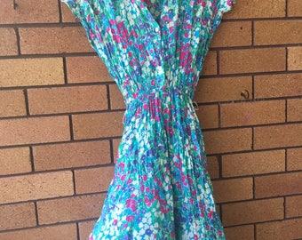 Floral vintage day dress