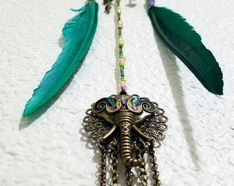 Elephant Amethyst Dreamcatcher