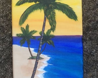 """Decorative surfboard- """"End of the Day"""""""