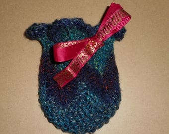 Lotus Flower / Knitted Dice Bag / Coin Purse