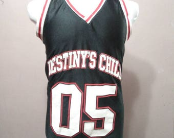 Destiny's Child 2005 blue grape brand vintage R&B Concert Promo Basketball Jersey