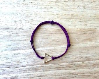 Triangle Burgundy Hemp Bracelet
