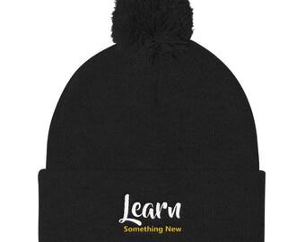 Learn something new Pom Pom Knit Cap