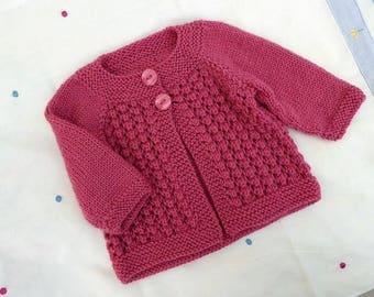 Kuzzy Design Baby Knit Cardigan,Newborn,0-3 month,3-6 month,6-9 month,0-12month baby cardigan,handmade cloth
