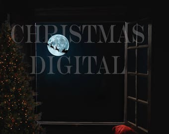 Christmas Digital Backdrop ( for use within photoshop )
