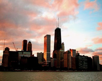 Chicago Red Sunset