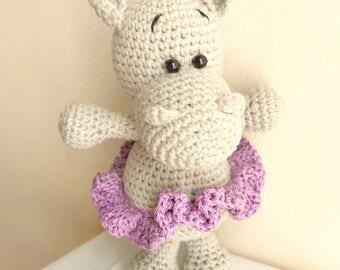 Amigurumi hippo- Crochet hippo- Crochet toy- Stuffed toy- Hippo stuffed animal- Crochet doll- Crocheted toy- Crochet animal- Hippo toy