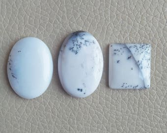 Natural Dendrite Gemstone 100% Loose Cabochon Mix Shape Lot Stone, Wholesale Price Gemstone Supplies, Dendrite Opal Cabochon Weight 81 Carat