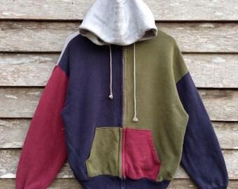 Rare!! Sweater Hoodies Full zipper Nice design by Homme et Femme medium size
