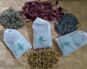 Magickal Protection Bag | Organic Materials | USA Made | Charm Bag | Powerful Protection Herbs | All Natural | Magical Gift