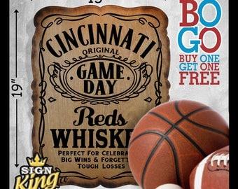 Cincinnati Reds / Reds / Reds  Baseball / Big Red Machine /  MLB / Jack Daniels  / Baseball / Ohio / Cincinnati Reds Sign