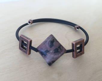 Geometric Crazy Horse Jasper Bracelet