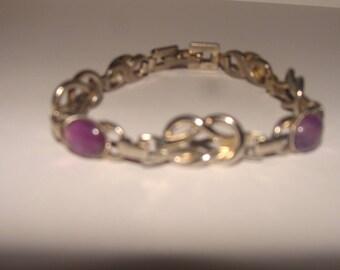 Vintage Purple Metal Bracelet