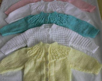 Hand knitted Baby  Sweaters/Jackets/Cardigans