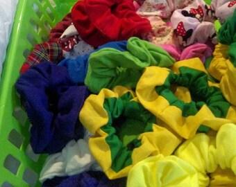 Handmade Scrunchies!  Cute, decorative hair ties. Lots of styles! Disney, Star Wars, LSU, SELU, Comfort Colors, etc.
