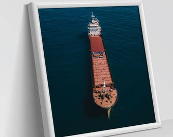 MARITIME LOVERS | Aerial Photography, Digital Print, Wall Art Decor, Art Prints, Abstract view, Dry and white