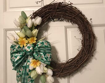 St. Patricks Day wreath, St. Patricks Day decor