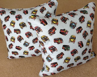 Cushions, filled cushions, piped cushions, scatter cushions, pillow, campervan, beetle, scooter