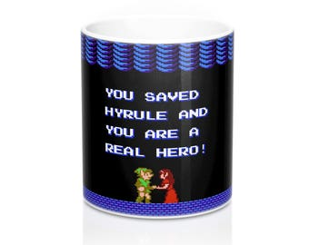 Zelda II The Adventure of Link // Hyrule // The Legend of Zelda // Princess Zelda // Triforce // Breath of the Wild // Coffee Tea Mugs