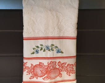100% Hand embroidered cotton kitchen towel