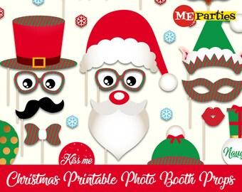 Christmas Photo Booth Props - Printable Christmas Props - Christmas Party - Photobooth Christmas - Christmas Photo Props