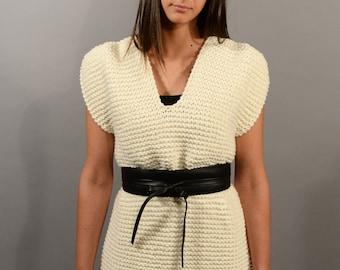 RACHEL Vest, wool vest, short dress in wool