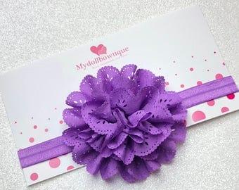 Headband, Purple headband, flowers