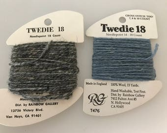 Twedie 18 for needlepoint 18 count and cross stitch 7, 8 and 10 count 100 wool