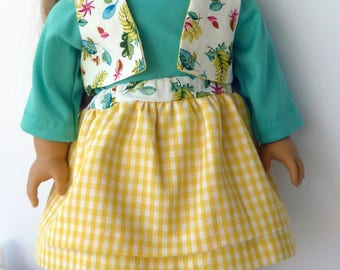 "18"" Doll Skirt & Top with Vest"
