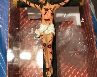home made Jesus on the cross