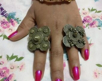 Banjara (Lambani) Gypsy Tribal Ring, Old Coins, Banjara Traditional looks