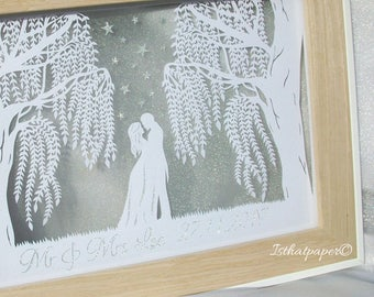 Wedding Willows Papercut DIY Template