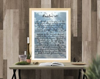 Psalm 121 Printable Wall Art Poster Instant Download