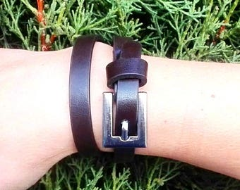 Double leather anti-allergic bracelet. A gift for her and for him. Gift for Valentine's Day. bracelet eternity. Valentine day