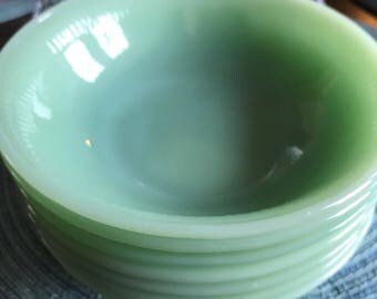 Vintage jadeite fire king jadeite jane ray cereal bowls