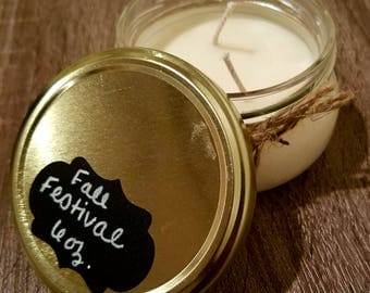 All Natural Soy Candle Fall Festival Scent