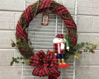 Woodsy Nutcracker Wreath
