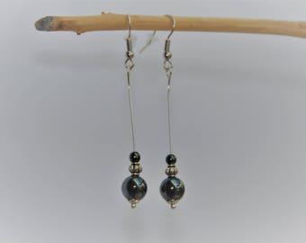 Earrings with beautiful Hematite beads