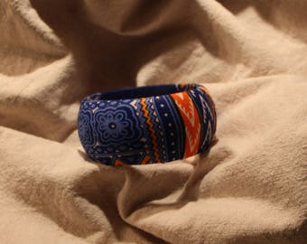 Fabric-based Bangle in West African style
