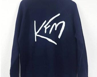 Crewneck Sweater Navy 80s KFM