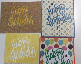 Happy Birthday  Script Cards 2.50