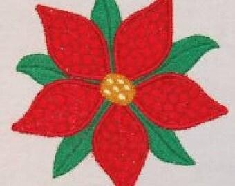 Poinsettia Applique