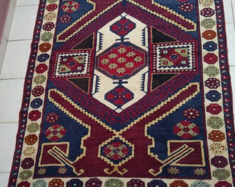 "Handmade turkish rug215x137cm 84""x54""anatolian rug,wool tribal rug,decorative rug"