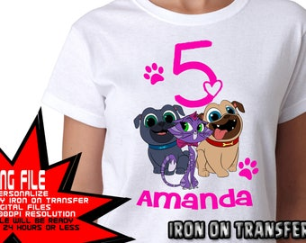 Puppy Dog Pals On Transfer, Boy Birthday Shirt, Puppy Dog Pals Birthday Shirt DIY, Puppy Dog Pals Shirt DIY, Personalize Name, Digital Files