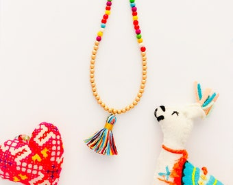 Kindred Coast Kids Rainbow Howlite Tassel Necklace
